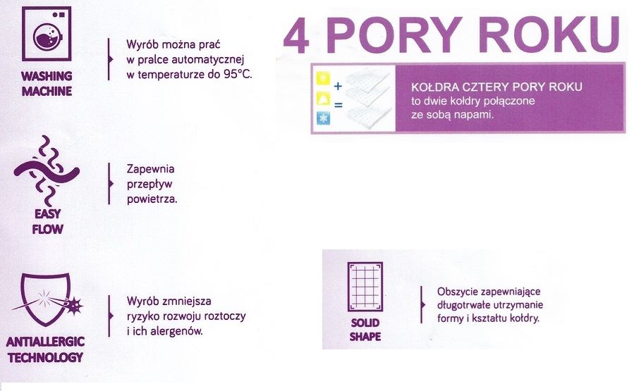 Kołdra Medical 4 pory roku