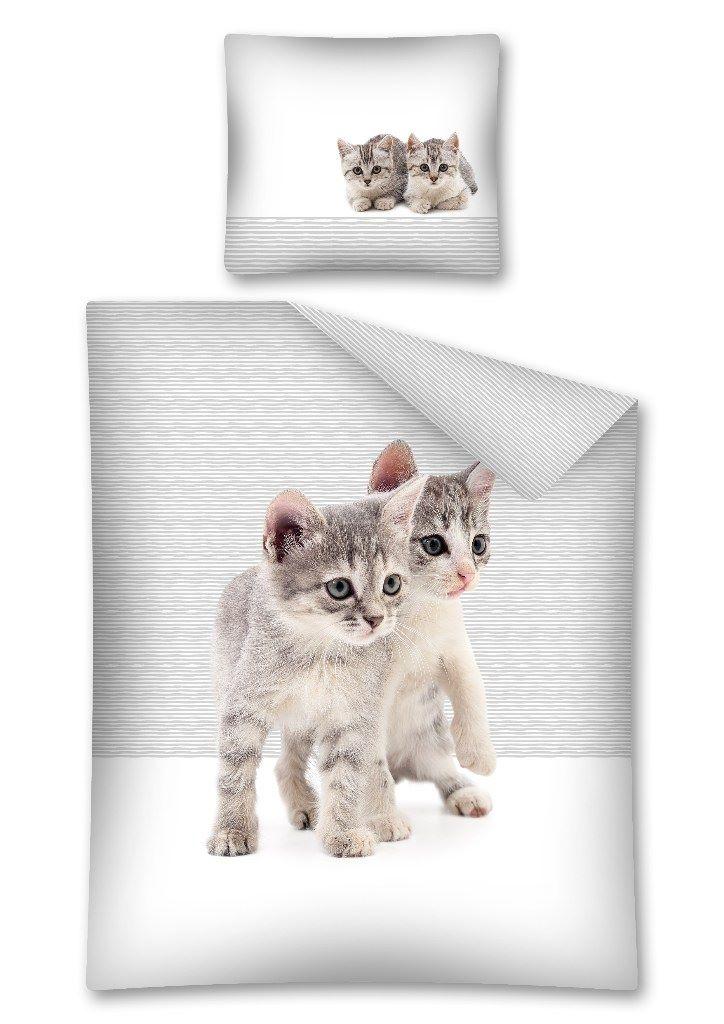 Pościel Bawełniana Dla Dzieci Kotki 160x200 70x80 2673