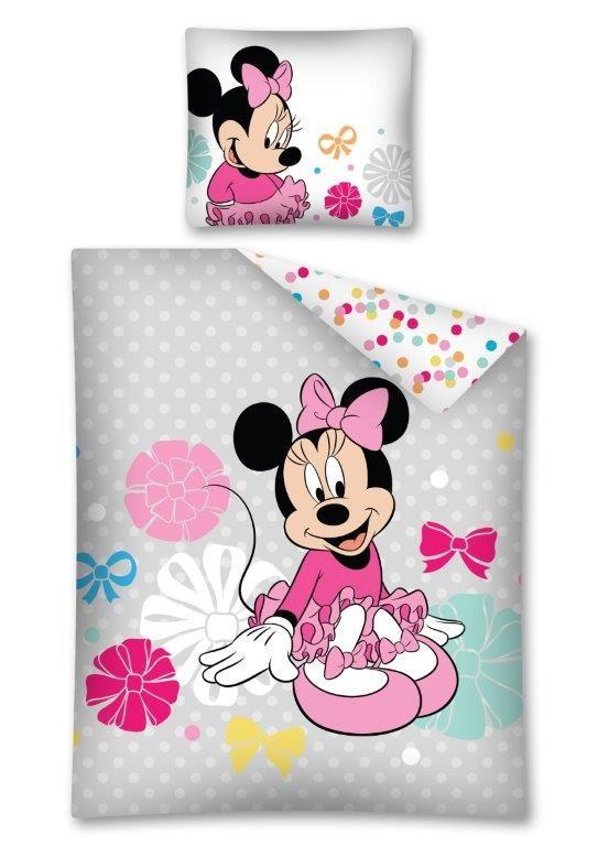 Pościel Z Bawełny Dla Dzieci Myszka Minnie 140x200 70x80 Stc