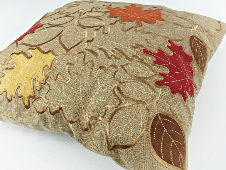 Poszewka Dekoracyjna Brązowa Beżowa Jesień 40 X 40 Int 16511