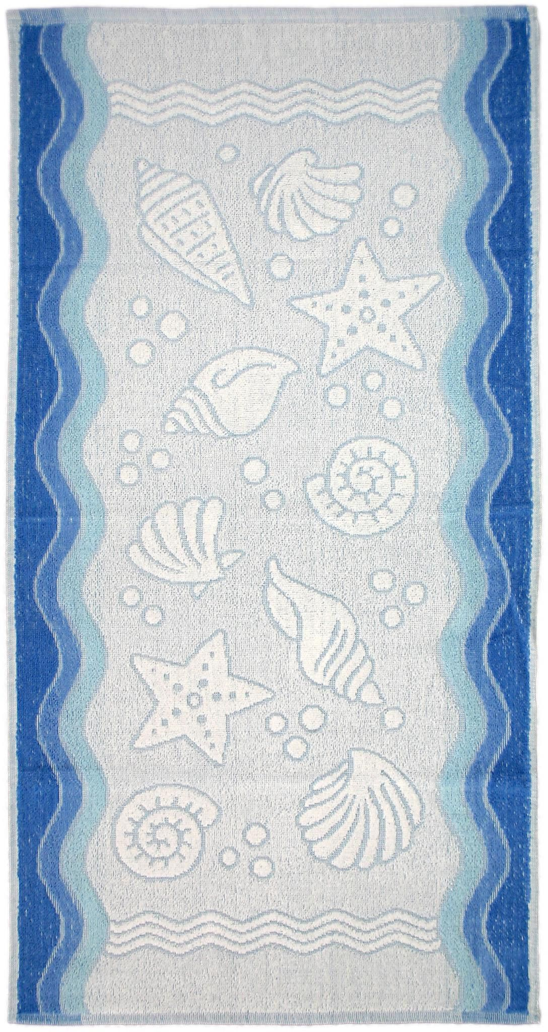 Ręcznik Flora Ocean - Niebieski - 50x100 cm - Everday Collection - Greno