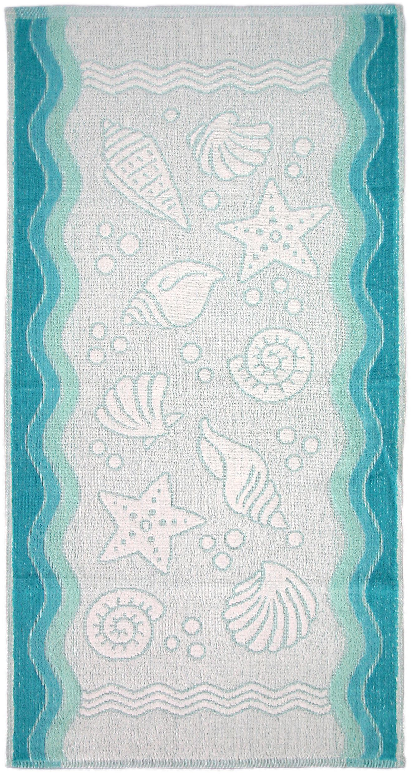 Ręcznik Flora Ocean - Turkusowy - 70x140 - Everday Collection - Greno   turkus
